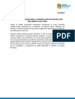 El Pj Bonaerense Rechaza La Modificación Por Decreto Del Reglamento Electoral