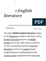 Middle English Literature - Wikipedia