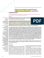 17.1 Colonic Stenting Versus Emergency Surgery for Acute Left-sided Malignant Colonic Obstruction a Multicentre Randomised Trial