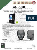 AC 7000 Brochure Face Scan