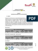 Proyecto Pliegos Sistema Integrado Rionegro 2019
