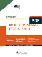 Partiels blancs Semestre 2, 2019 - Droit Des Personnes Et de La Famille - Annales d'Examen