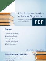 Princípios de Análise e Síntese Orgânica