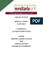Ciencias Politicas Resumen Cuatri