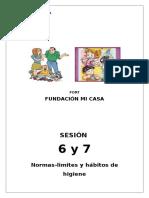 Taller de Fortalecimiento de Competencias Parentales Sesión Nº 6 y 7