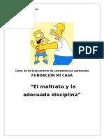 Taller de Fortalecimiento de Competencias Parentales Nº Xxx2014