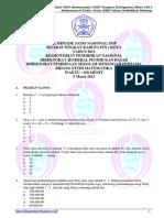 2013 OSN Matematika SMP Kota (SOAL)