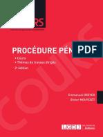 Partiels blancs Semestre 2, 2019 - Procédure Pénale - Cours