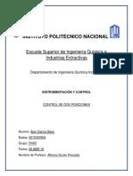 Práctica Control de 2 Posiciones Instrumentacion y Control ESIQIE
