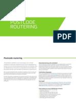 Belfabriek Postcode Routering