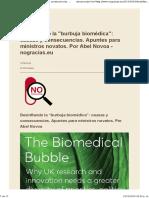 "Desinflando La ""Burbuja Biomédica"""