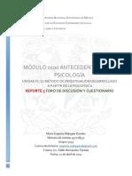 Malagon Rosales Maria Eugenia-9133- Reporte 5 Foro de Discusion y Cuestionario u3 Lectura 1-2