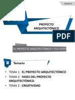 2 Segunda Clase El Proyecto Arquitectónico