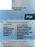 Formal Elements of Literature
