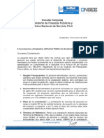 Circular Que Define Normas Para La Contratación de Personal Que Presta Servicios Para El Desarrollo de Programas