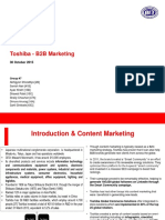 B2B Marketing Group 7 Toshiba