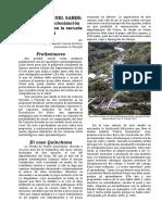 Ruralización Del Saber