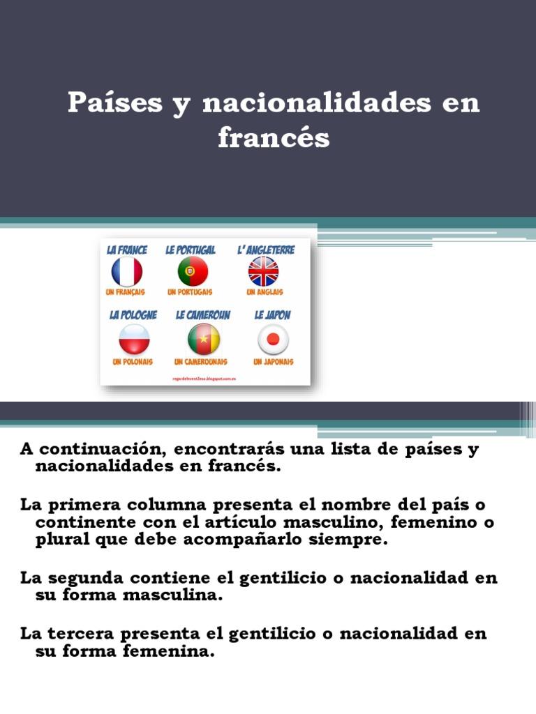 Países Y Nacionalidades En Francés Guatemala Symboles
