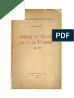 La Politica de Francia en Santo Domingo