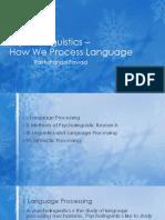 Psycholinguistics – Language Processing