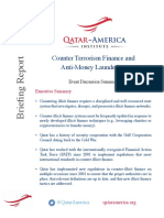 QAI Counter Terrorism Finance and Anti Money Laundering Discussion Report