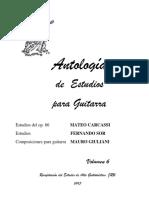 Antologia de Estudios Para Guitarra Vol 6