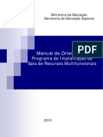 Manual de Orientação Programa de Implantação de Sala de Recursos Multifuncionais