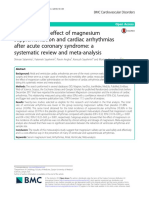 Evaluating the effect of magnesium supplementation and cardiac arrhythmias after acute coronary syndrome