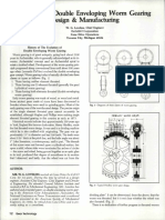 Double Enveloping Worm Gear Sets