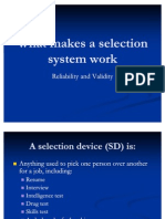 What Makes a Selection System Work