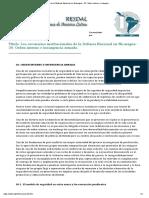 Los Escenarios Institucionales de La Defensa Nacional en Nicaragua - 20