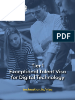 exceptional talent visa for digital technology