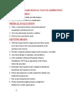 Postabortion Care (Mva) Checklist
