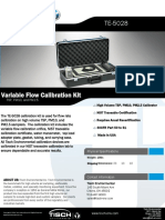Technical Specifications Variflow - Calibrador de Flujo Variable