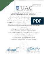 Certificado Titulo