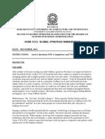 Hcba 3213 Global Strategic Management