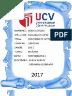 Informe de Derecho Civil y Personas...