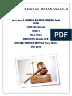 Informe de Sentencia (Derecho Civil i)....