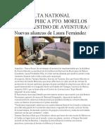 Catapulta National Geographic a Pto. Morelos Como Destino de Aventura