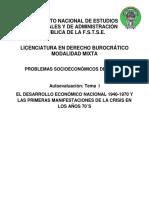 Autoevaluaciones - Problemas Socioeconomicos de México (FSTSE)