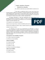Unidad I Algoritmos y Programas