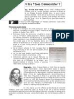 la biographie des frères Darmesteter de Château-Salins