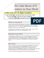 How to Do Cube Roots of 9 Digit Numbers in Your Head