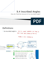 9.4 Inscribed Angles