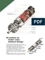 Brushless Dc Motor Uses Slotless Design