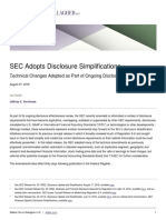 SEC Adopts Disclosure Simplifications