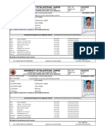 University of Rajasthan Admit Card