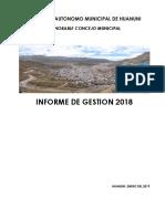 Inform Gestion Hcmh 2018 222 (14 Enero 2019)