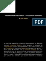 PP - Articulating a Hermeneutic Pedagogy.pptx