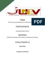 El Curriculo Por Competencias de La Educacion Dominicana